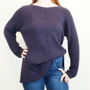 Style & Co Purple Shadow Stripe Sweater 3X New